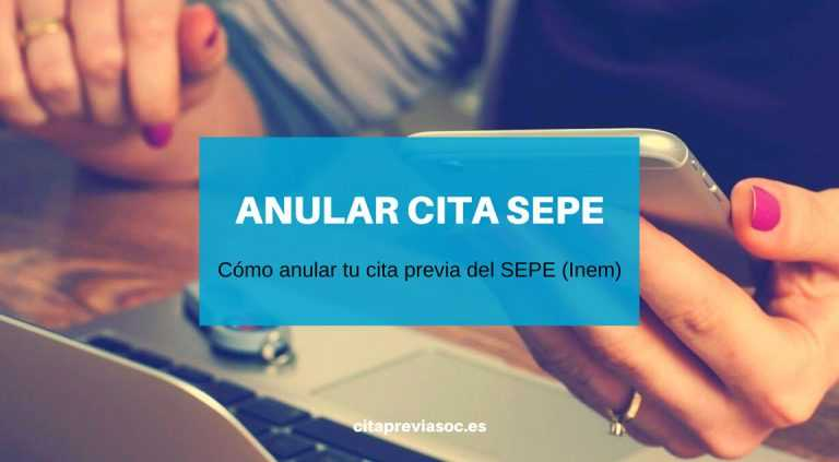 Anular Cita Sepe