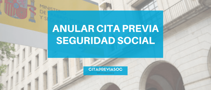 anular cita seguridad social