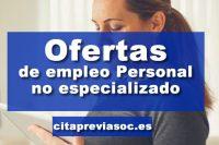 Empleo de Personal no especializado